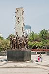 Liberation Memorial At The Weihsien Internment Camp, Unveiled In 2005 In Time For The 60th Anniversary Of The Liberation Of The Camp.  Weifang.