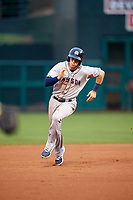 Colorado Springs Sky Sox third baseman Ryan Cordell (7) running the bases during a game against the Oklahoma City Dodgers on June 2, 2017 at Chickasaw Bricktown Ballpark in Oklahoma City, Oklahoma.  Colorado Springs defeated Oklahoma City 1-0 in ten innings.  (Mike Janes/Four Seam Images)