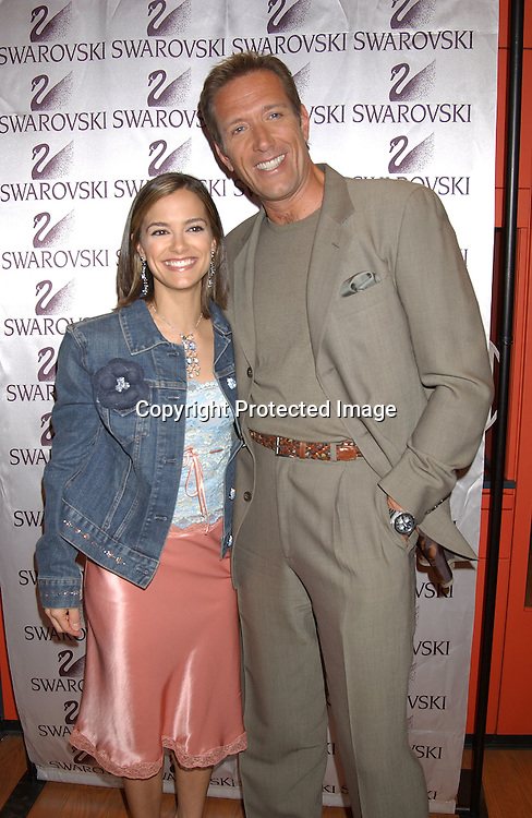 BUDIG & WILLEY                               ..AT THE SWAROVSKI STORE FOR THE AMERICAN HEART ASSOCIATION PROJECTS SWAROVSKI CELEBRITY HEARTHROBS CRYSTALLIZE DENIM AUCTION  ON APRIL 24,2003 ..PHOTO BY ROBIN PLATZER,TWIN IMAGES..ALL MY CHILDREN'S WALT WILLEY