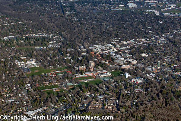 aerial photograph Chico, Butte County, California
