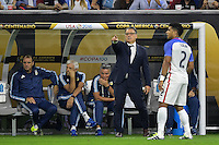 Houston, TX - Tuesday June 21, 2016: Gerardo Martino during a Copa America Centenario semifinal match between United States (USA) and Argentina (ARG) at NRG Stadium.