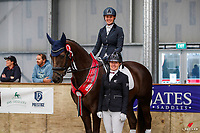 NZL-Reece Downham and Ruby MH take Reserve for the Elite Equine Nutrition Young Dressage Horse 5yo Championship. 2020 NZL-Bates Saddles NZ Dressage Championships. NEC Taupo. Thursday 19 November 2020. Copyright Photo: Libby Law Photography