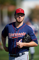 Minnesota Twins pitcher Phil Hughes (45) during a Spring Training practice on March 1, 2016 at Hammond Stadium in Fort Myers, Florida.  (Mike Janes/Four Seam Images)