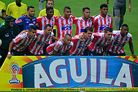 BARRANQUILLA - COLOMBIA, 22-09-2018: Los jugadores de Atlético Junior, posan para una foto, antes de partido de la fecha 11 entre Atlético Junior y La Equidad por la Liga Aguila II 2018, jugado en el estadio Metropolitano Roberto Meléndez de la ciudad de Barranquilla. / The players of Atletico Junior, pose for a photo, prior a match of the of the 11th date between Atletico Junior and La Equidad, for the Liga Aguila II 2018 at the Metropolitano Roberto Melendez stadium in Barranquilla city, Photo: VizzorImage / Alfonso Cervantes / Cont.