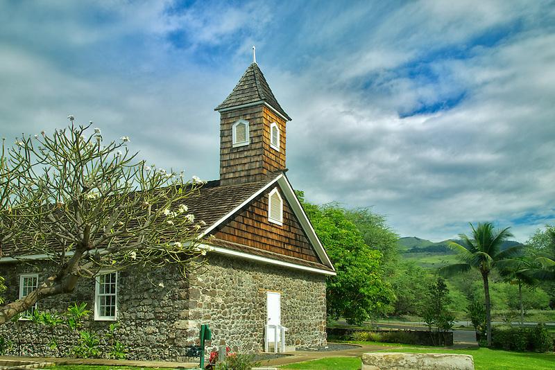 Keawalai church. Mekena, Maui, Hawaii