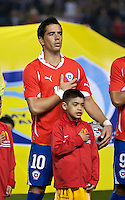 CARSON, CA – JANUARY 22: Chile forward Daud Gazale (10) before the international friendly match between USA and Chile at the Home Depot Center, January 22, 2011 in Carson, California. Final score USA 1, Chile 1.