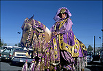 Woman on horseback in Arabian themed costume for the Indio Date Fextival in Indio, CA