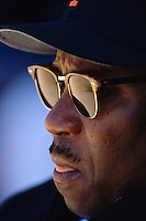 SAN FRANCISCO, CA - Manager Dusty Baker of the San Francisco Giants watches his team during a game against the Florida Marlins on Opening Day at Candlestick Park in San Francisco, California in 1993. Photo by Brad Mangin