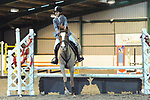Stapleford Abbotts. United Kingdom. 21 October 2018. Class 5. Unaffiliated Christmas showjumping. Brook Farm training centre. Stapleford Abbotts. Essex. UK. 21/10/2018.  MANDATORY Credit Ellen Szalai/Sport in Pictures - NO UNAUTHORISED USE - 07837 394578