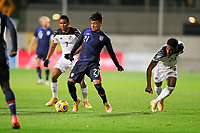 WIENER NEUSTADT, AUSTRIA - NOVEMBER 16: Ulysses Llanez Jr #21 of the United States moves with the ball during a game between Panama and USMNT at Stadion Wiener Neustadt on November 16, 2020 in Wiener Neustadt, Austria.