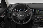 Car pictures of steering wheel view of a 2019 KIA Niro-EV  EX-Premium 5 Door Hatchback