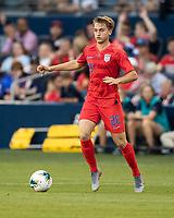 KANSAS CITY, KS - JUNE 26: Djordje Mihalovic #20 during a game between United States and Panama at Children's Mercy Park on June 26, 2019 in Kansas City, Kansas.
