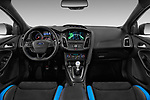 Stock photo of straight dashboard view of a 2017 Ford Focus RS Limited 5 Door Hatchback