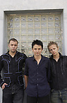 The members of Muse pose for a portrait session in Los Angeles at Cello Studios.