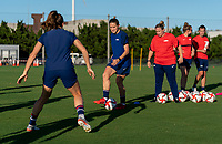 KASHIMA, JAPAN - AUGUST 4: Abby Dahlkemper #17 of the USWNT passes the ball during a training session at the practice field on August 4, 2021 in Kashima, Japan.