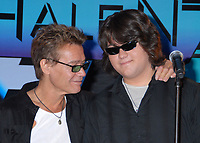 06 October 2020 - Eddie Van Halen, legendary Hall of Fame Guitarist and co-founder of Van Halen -- has died after a long battle with throat cancer at the age of 65. File Photo: 13 August 2007 - Beverly Hills, California - Eddie Van Halen and son Wolfgang Van Halen. Van Halen and David Lee Roth Announce North American Tour at the Four Seasons Hotel. Photo Credit: Byron Purvis/AdMedia
