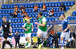 St Johnstone v Hibs……23.08.20   McDiarmid Park  SPFL<br />Socially distanced St Johnstone subs watch the game<br />Picture by Graeme Hart.<br />Copyright Perthshire Picture Agency<br />Tel: 01738 623350  Mobile: 07990 594431