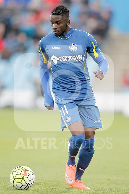 Getafe's Karim Yoda during La Liga match. February 27,2016. (ALTERPHOTOS/Acero)