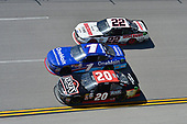 NASCAR Xfinity Series<br /> Sparks Energy 300<br /> Talladega Superspeedway, Talladega, AL USA<br /> Saturday 6 May 2017<br /> Erik Jones, Reser's American Classic Toyota Camry, Elliott Sadler, OneMain Financial Chevrolet Camaro, Joey Logano, Discount Tire Ford Mustang<br /> World Copyright: John K Harrelson<br /> LAT Images<br /> ref: Digital Image 17TAL1jh_01859
