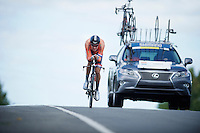 Tom Dumoulin (NLD/Giant-Alpecin) off his usual pace and ending up 5th overall<br /> <br /> Elite Men TT<br /> UCI Road World Championships / Richmond 2015