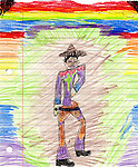 Drawing of person by 7 year old girl