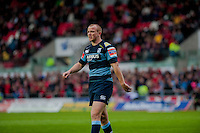 Saturday 10 May 2014<br /> Pictured: Dan Fish of the Blues <br /> Re: Scarlets v Blues Rabo Direct Pro 12 Rugby Union Match at Parc y Scarlets, Llanelli, Wales