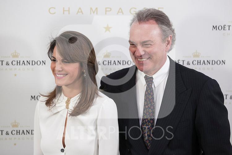 Bertin Osborne and Fabiola Martinez pose during Moet & Chandon event in Madrid, Spain. May 05, 2015. (ALTERPHOTOS/Victor Blanco)
