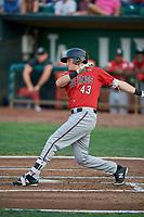 Bren Spillane (43) of the Billings Mustangs bats against the Ogden Raptors at Lindquist Field on August 18, 2018 in Ogden, Utah. Billings defeated Ogden 6-4. (Stephen Smith/Four Seam Images)
