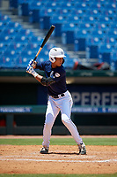 Kristian Campbell (2) of Walton High School in Marietta, GA during the Perfect Game National Showcase at Hoover Metropolitan Stadium on June 19, 2020 in Hoover, Alabama. (Mike Janes/Four Seam Images)