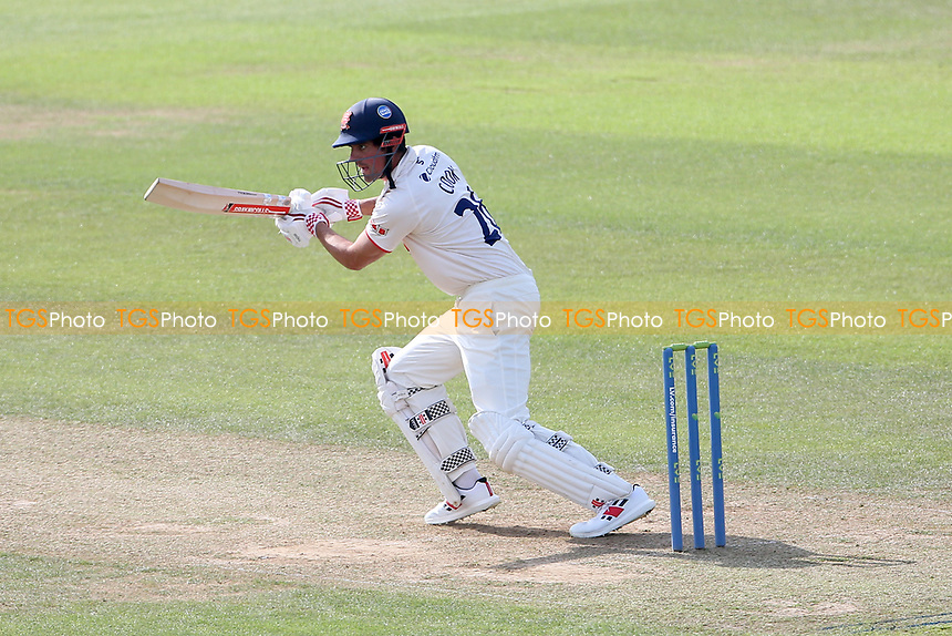 Sir Alastair Cook of Essex hits 4 runs during Surrey CCC vs Essex CCC, LV Insurance County Championship Division 2 Cricket at the Kia Oval on 12th September 2021