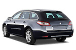 Rear three quarter view of 2012 Peugeot 508 SW Allure Wagon Stock Photo