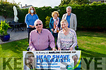 Mairéad Fernane at home after cutting her hair for a fundraiser for the Kerry Hospice. <br /> Seated: Mairead Fernane and Tim Guiheen.<br /> Standing l to r: Kay and Jack Fernane and Francine Walsh