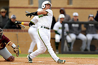 San Jacinto Gators catcher Herbert Iser (7) in action against the Bossier Parish Community College Cavaliers at Harrison Field on February 2, 2018 in Houston, TX. (Erik Williams/Four Seam Images)