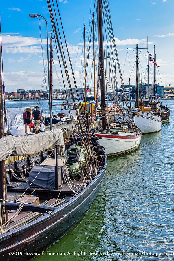 Sailboats in Gothenburg harbor