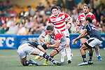 Kotaro Yatabe of Japan in action during the Asia Rugby Championship 2017 match between Hong Kong and Japan on May 13, 2017 in Hong Kong, China. Photo by Marcio Rodrigo Machado / Power Sport Images