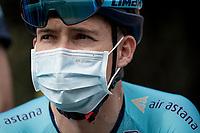 Miguel 'Superman' Angel Lopez (COL/Astana) at the race start in Clermont-Ferrand<br /> <br /> Stage 1: Clermont-Ferrand to Saint-Christo-en-Jarez (218km)<br /> 72st Critérium du Dauphiné 2020 (2.UWT)<br /> <br /> ©kramon