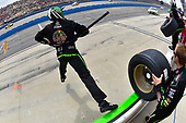 2017 Monster Energy NASCAR Cup Series<br /> Auto Club 400<br /> Auto Club Speedway, Fontana, CA USA<br /> Sunday 26 March 2017<br /> Kyle Busch, Interstate Batteries Toyota Camry pit stop<br /> World Copyright: Nigel Kinrade/LAT Images<br /> ref: Digital Image 17FON1nk06059