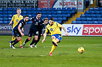 Ross County v St Johnstone…02.01.21   Global Energy Stadium     SPFL<br />Craig Conway scores from the spot<br />Picture by Graeme Hart.<br />Copyright Perthshire Picture Agency<br />Tel: 01738 623350  Mobile: 07990 594431