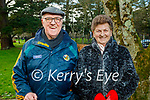 Denis and Sheila O'Sullivan enjoying a stroll in the Tralee town park on Thursday.