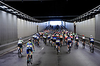 peloton rolling out of Antwerp<br /> <br /> Women Elite - Road Race (WC)<br /> from Antwerp to Leuven (158km)<br /> <br /> UCI Road World Championships - Flanders Belgium 2021<br /> <br /> ©kramon