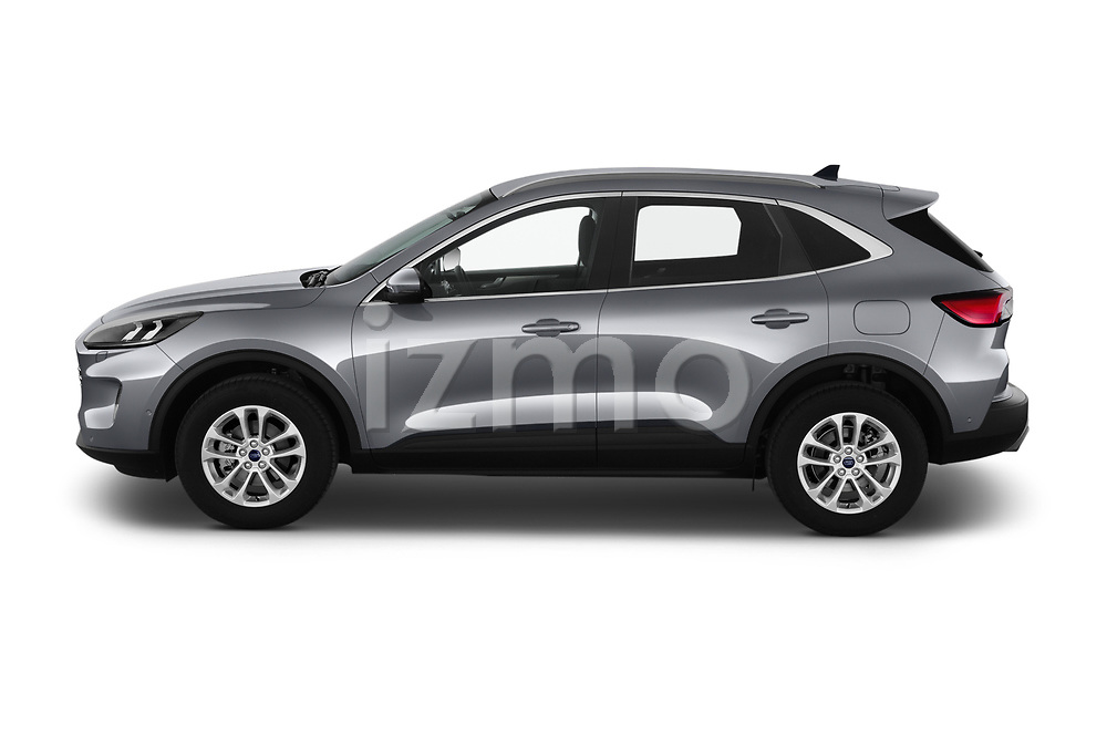 Car Driver side profile view of a 2020 Ford Kuga Titanium 5 Door SUV Side View