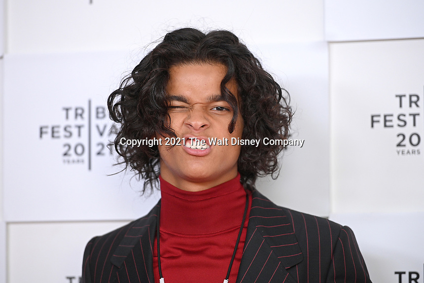 """New York CITY - JUNE 15: D'Pharaoh Woon-A-Tai attends the Tribeca Festival screening of FX's """"Reservation Dogs"""" at Brookfield Place on June 15, 2021 in New York City. (Photo by Anthony Behar/FX/PictureGroup)"""