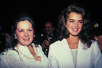 Brooke Shields, mother Teri Shields 1982 Photo by Adam Scull-PHOTOlink.net