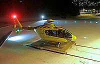 EC 135 helicopter, Norwegian Air Ambulance base Lørenskog (Foto:Fredrik Naumann/Felix Fetures.)