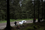 14th September 2012 - Devils Bridge - Mid Wales : WRC Wales Rally GB SS6 Myherin stage : Fans watching the action deep in the forest stage.