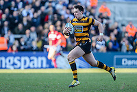 SCF2016 - RBAI vs Campbell College | Thursday 17th March 2016<br /> <br /> James Hume races clear to score the winning try during the Ulster Schools Cup Final between RBAI and Campbell College at Kingspan Stadium, Ravenhill Park, Belfast, Northern Ireland. Photo credit: John Dickson / DICKSONDIGITAL