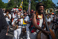 Joyous celebration of Juneteenth in NYC commemorating the end of slavery in the United States