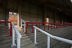 An interior view of the stadium showing the Brook Road stand before Brentford hosted Leeds United in an EFL Championship match at Griffin Park. Formed in 1889, Brentford have played their home games at Griffin Park since 1904, but are moving to a new purpose-built stadium nearby. The home team won this match by 2-0 watched by a crowd of 11,580.