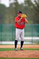 Atlanta Braves Steven Kent (58) during an intrasquad Spring Training game on March 29, 2016 at ESPN Wide World of Sports Complex in Orlando, Florida.  (Mike Janes/Four Seam Images)