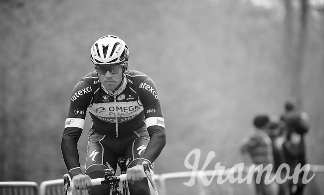Zdenek Stybar (CZE/OPQS) coming through sector 18: Pavé de la Trouée d'Arenberg<br /> <br /> 2014 Paris-Roubaix reconnaissance